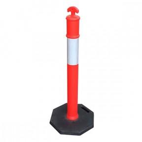 Poteaux signalisation orange