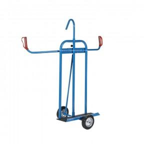 Vue de 3/4 du chariot porte panneaux 300 kg