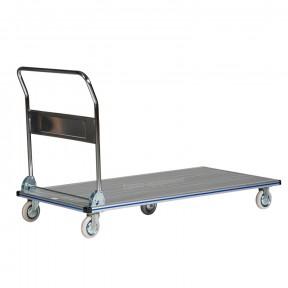 Chariot en aluminium avec dossier rabattable capacité 350 kg vue de 3/4