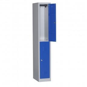 Vestiaire bi places 2 cases L30cm porte ouverte sans accessoires